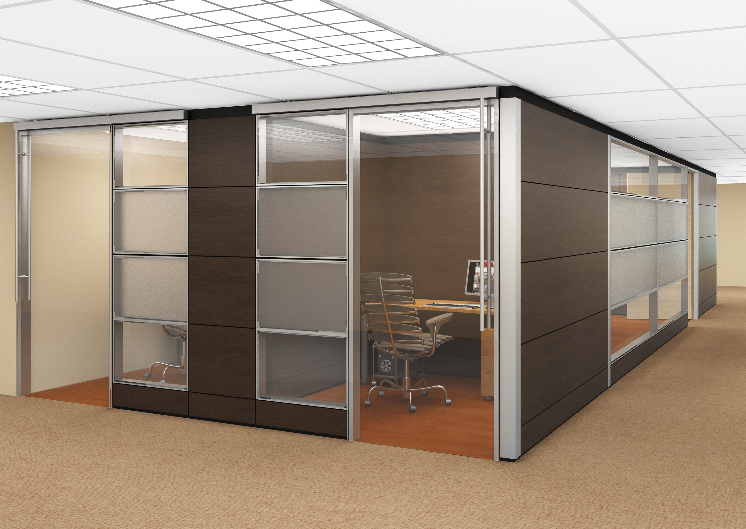 duo segmentation is a laminate glass partition wall office divider