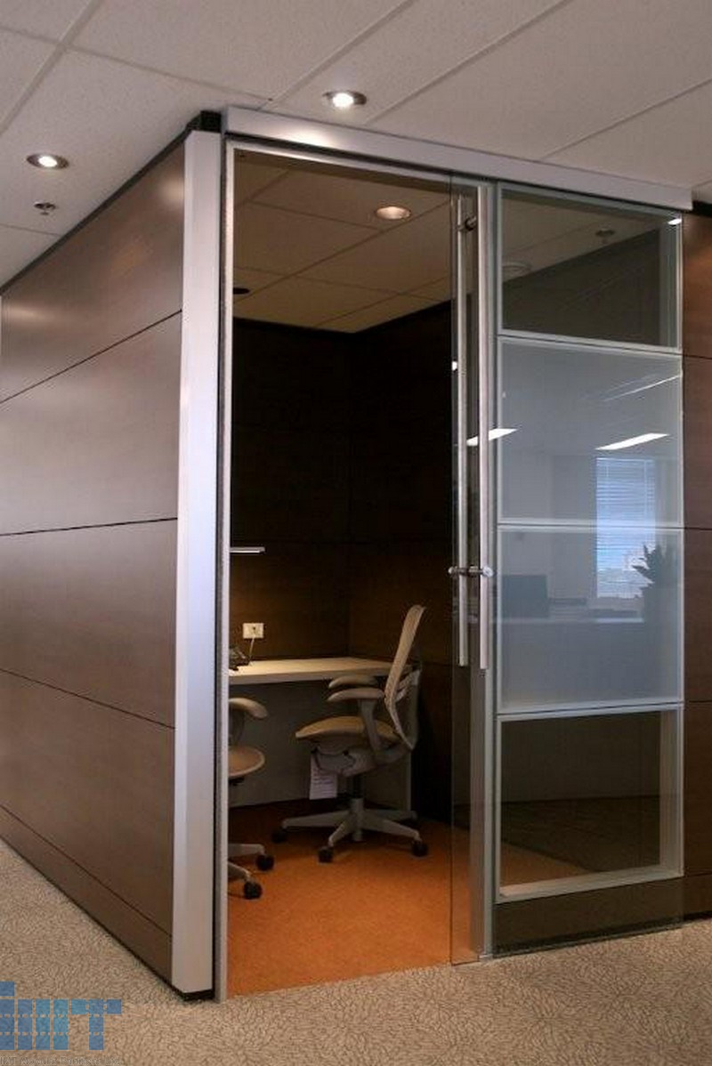 Frameless Glass Sliding Doors For Modular Office Partitions