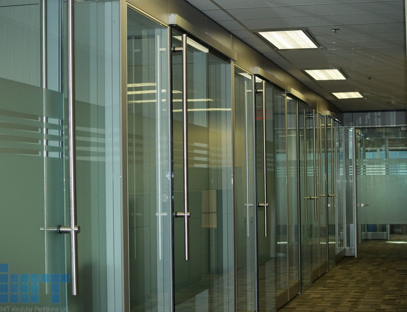Office door frameless glass office door for Sliding glass wall systems