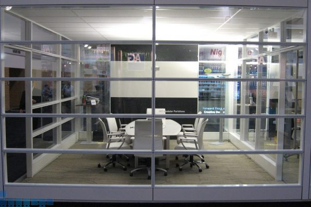 Horizontal Glass Partition Walls Is Part Of Our Glass