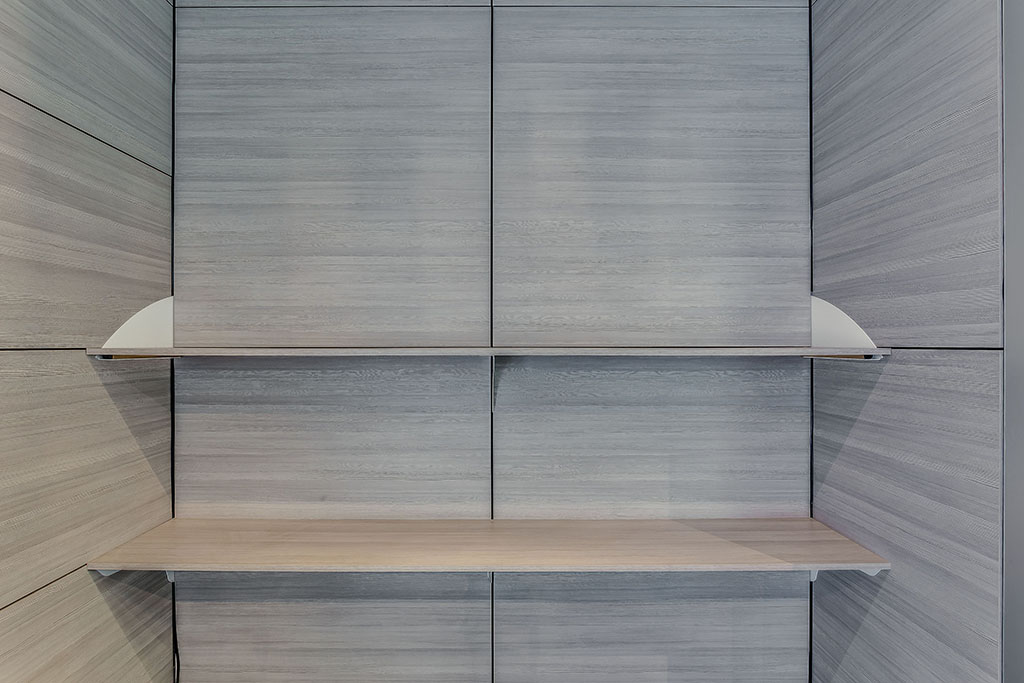 Shelving And Cantilever Brackets Are Wall Partition
