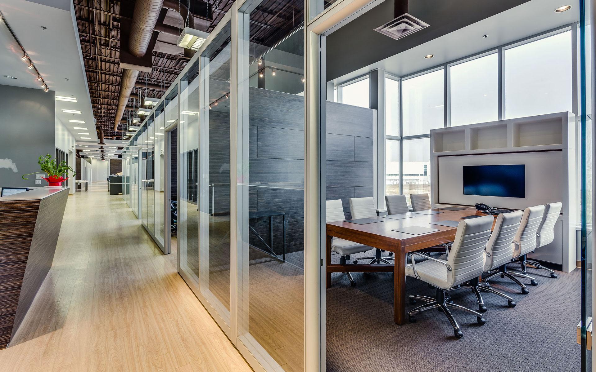 28 frameless glass sliding doors for modular office partiti