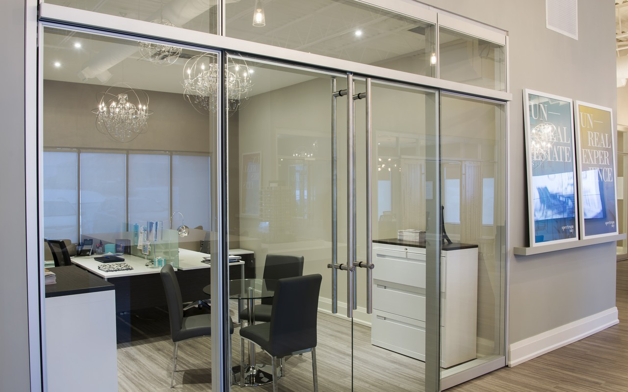 Hazard-Free Office Wall Partition